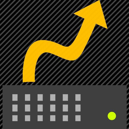 hosting, hosting upgrade, server, server update, server upgrade, vps icon