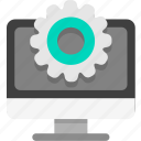 computer, computer configure, computer setting icon
