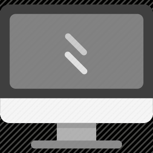 computer, display, motioner icon