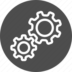 config, control, customization, desktop, gear, gears, machine, mechanism, options, preferences, process, rotation, settings, system, tool, tools, work icon