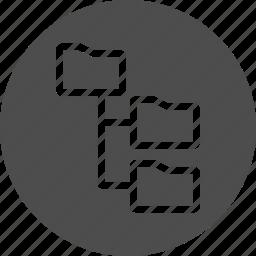 dos, explorer, file system, files, folder, folder tree, folders, os, tree icon