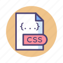 extension, css, document, file icon