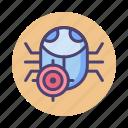 bacteria, debug, protection, virus icon