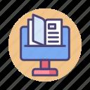 desktop, monitor, publishing, screen icon
