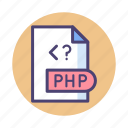 computer, document, file, php icon