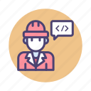 computer, engineer, interface, software icon