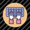 computer, key, keyboard, typing