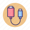 adapter, computer, media, video icon