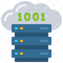 binary, cloud, computer, data, science icon