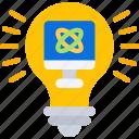 bulb, computer, ideas, light, science, smart icon