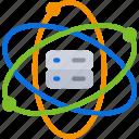 computer, data, science, scientific, storage icon