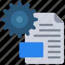 configuration, document, file, settings icon
