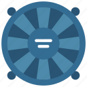 computer, cooling, fan, parts, science icon