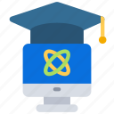 computer, degree, learn, science icon