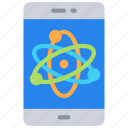 computer, iphone, mobile, phone, science icon