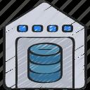 computer, data, science, storage, warehouse icon