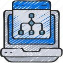 algorithm, browser, computer, laptop, science icon