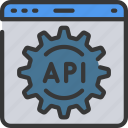 api, application, computer, interface, programming, science icon