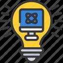 bulb, computer, ideas, light, science, smart