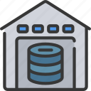 computer, data, science, storage, warehouse icon