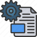 configuration, document, file, settings icon