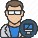 avatar, computer, male, science, scientist