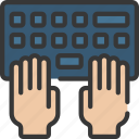 hands, keyboard, programming, typing icon
