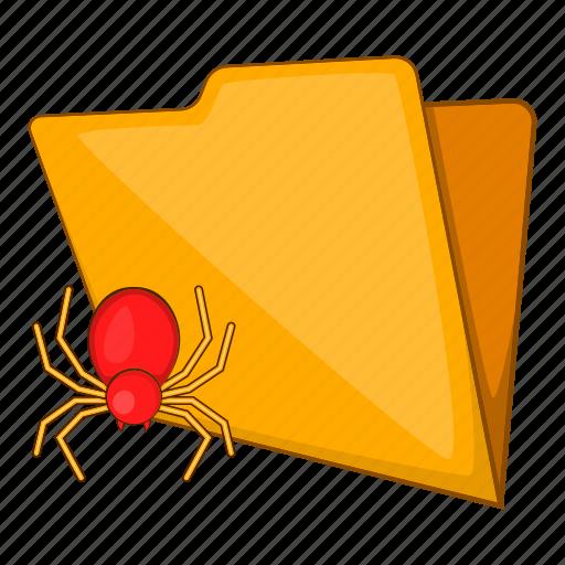 Background, bug, cartoon, file, folder, virus, white icon - Download on Iconfinder