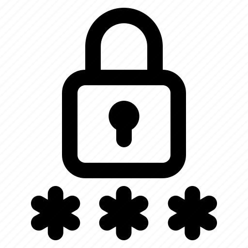 computer, data, information, internet, password, security, technology icon