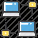 database, network, organization, share