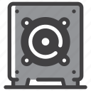 bass, music, speaker, subwoofer icon