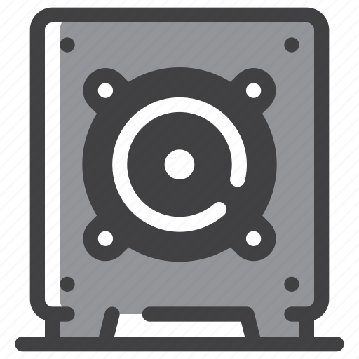 Bass, music, speaker, subwoofer icon - Download on Iconfinder
