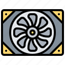 cooling, device, fan, technology, tool icon