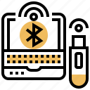 bluetooth, communication, connection, network, usb icon