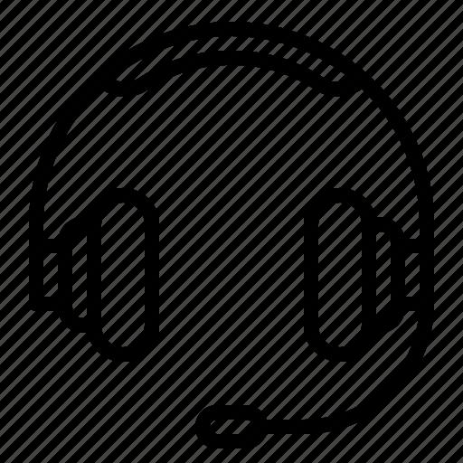 headphone, headset icon