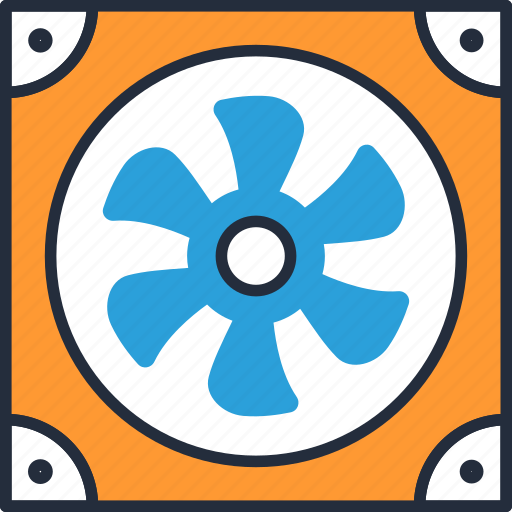blower, computer, upgrading icon