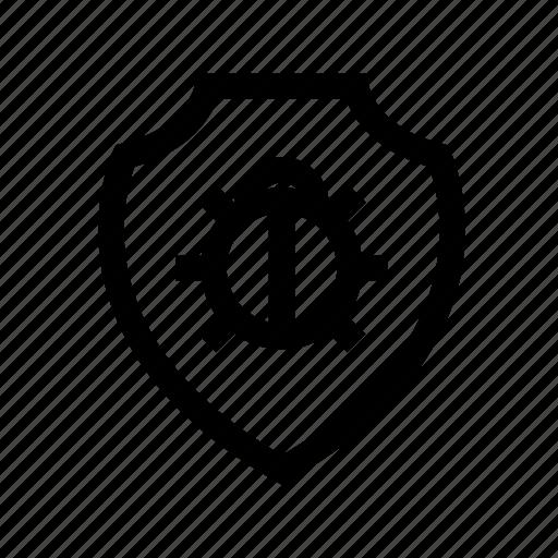 antivirus, bug, computer, internet, shield, system icon