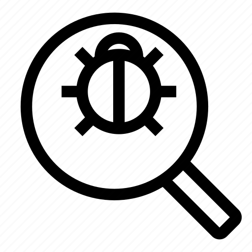 antivirus, bug, computer, internet, magnifying glass, system icon