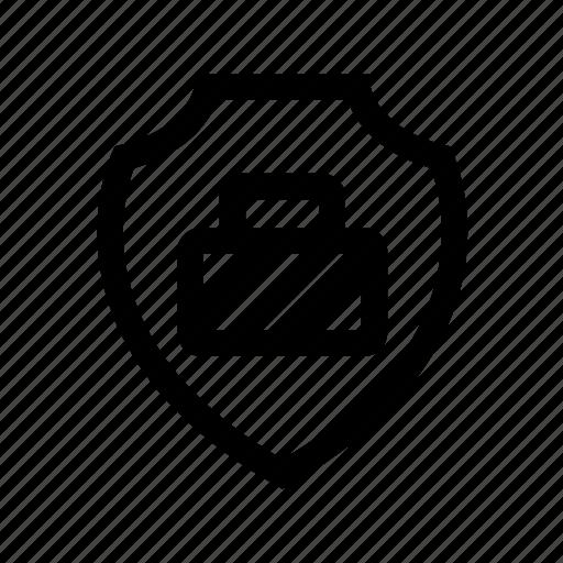 computer, guard, monitor, protection, shield, virus icon