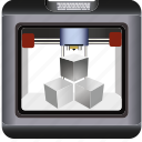 3d, construction, device, dimensional, makerbot, print, printer, printing, reprap, technology, three icon