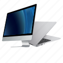 apple, computer, desktop, device, information, laptop, mac, macbook, monitor, screen, technology icon