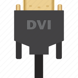adapter, cable, cord, display, dvi, monitor, multimedia, video icon