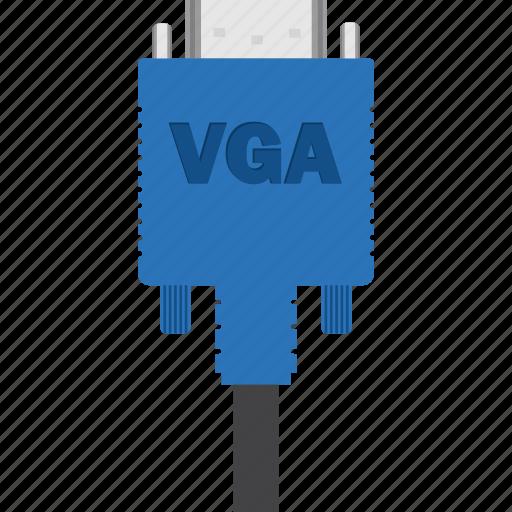 adapter, cable, cord, graphic, graphics, multimedia, plug, vga, video, wire icon