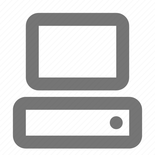 computer, desktop, device, monitor, pc, personal, technology icon