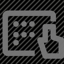 cursor, dial, keypad icon