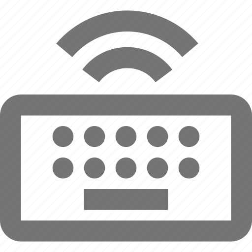 Keyboard, wireless, connect, device, hardware, remote, signal icon - Download on Iconfinder
