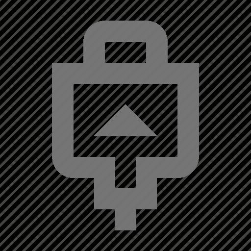 computers, connect, drive, head, insert, plug, stick, usb icon