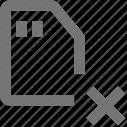 delete, sd card icon