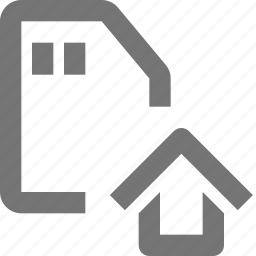 home, house, sd card icon