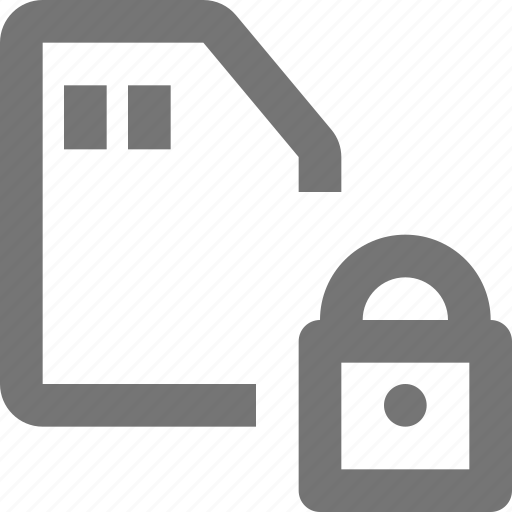 lock, sd card, security icon